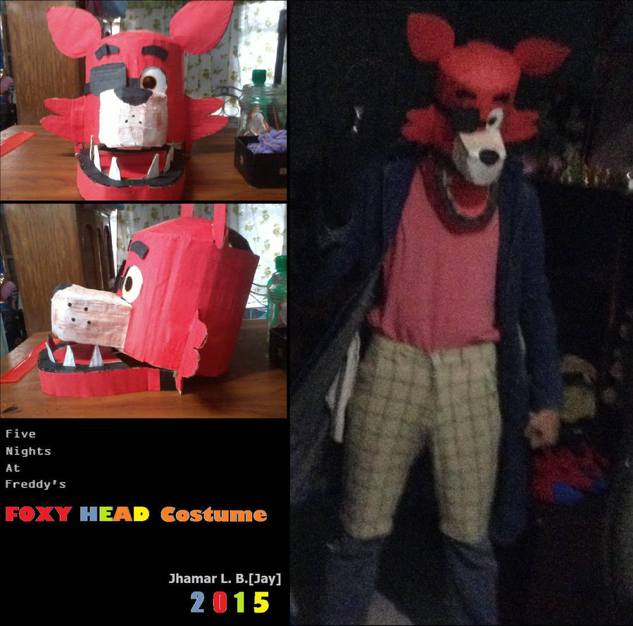 Fnaf Me And My Foxy Head Costume By Sammfeatblueheart On Deviantart