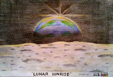 Lunar Sunrise by SammfeatBlueheart