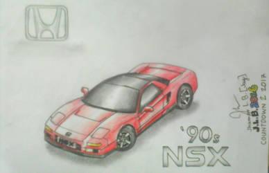 Honda NSX: 90's by SammfeatBlueheart