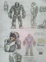 Battle Flight Suit Concept A.K.A. 'The Tank' by SammfeatBlueheart