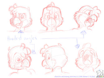 Sketch - Jay's Expression Angles by SammfeatBlueheart