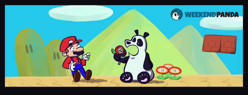 Weekend Panda And Mario by JKRiki