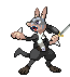 Yu Narukami from Persona 4 as Lucario by NaoTheSillyDuffer