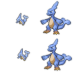 Rainmeleon Male and Female Party Sprite by NaoTheSillyDuffer