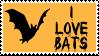 Bat fan stamp by SailorSolar