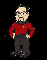 Ben as Picard by LegendaryBagel