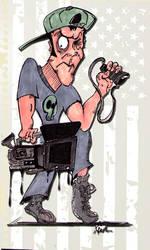 Shoot Stuff Guy Cartoon by shootstuffguy