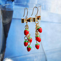 Tiny Strawberries Earrings by Madizzo