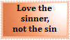 Stamp-Love The Sinner Not Sin by Jazzy-C-Oaks