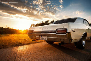 Sunset and Muscle Car by AmericanMuscle