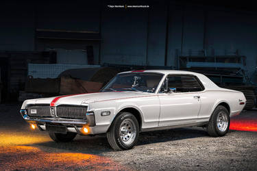 white 1968 Mercury Cougar by AmericanMuscle
