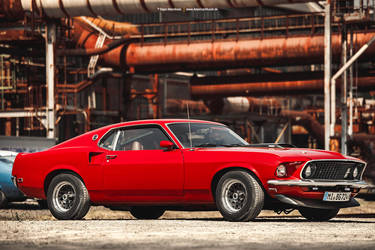 red 1969 Ford Mustang Fastback by AmericanMuscle