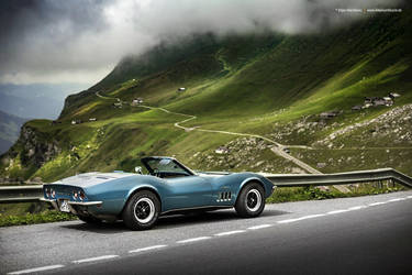 blue 1969 Corvette C3 Convertible by AmericanMuscle