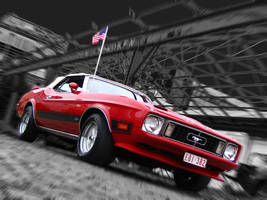 Red Mustang by AmericanMuscle