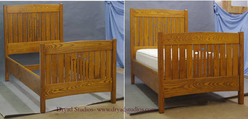 Custom Ash Twin Bed by DryadStudios