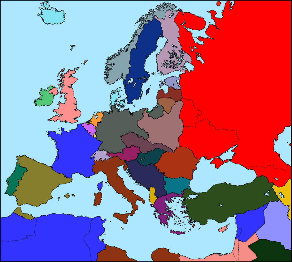 Map of Europe 1935 by xGeograd on DeviantArt