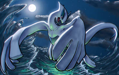 Lugia: Lord of the Ocean by DaniDL