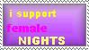 female NIGHTS stamp by MonoShuga