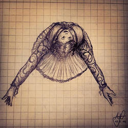 Sketch: Dancing Princess by Meellowstar
