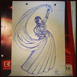 Sketch: Dancing Princess II by Meellowstar