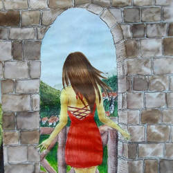 Through an Arch by Meellowstar