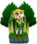 Toon Link Meets a Fairy by Ryaccoon