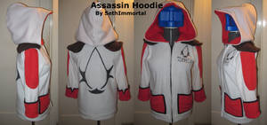 Assassin Hoodie WHITE by SethImmortal