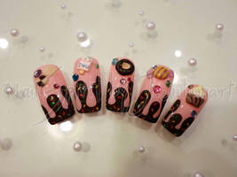 Sweet yummy nail art by Jutamart