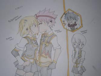 Edolas NaLu: secret kiss by Ayakashixxx