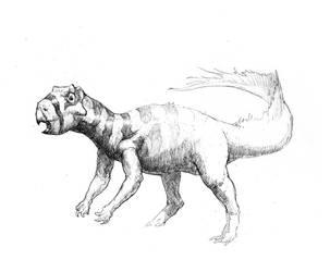 Psittacosaurus by FoxyTomcat