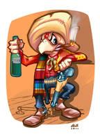 CONDORITO, as a mexican gunman. Color by ALEROGER