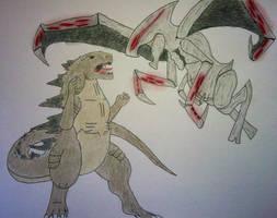 Godzilla- Play Nice You Two! by TheForbiddenTenet