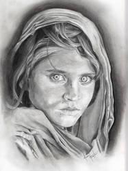 Afghan Girl by Samirakate