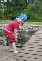 Child In to the pond 2 by Liburnica-stock