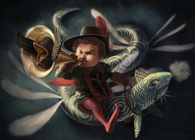 Trumpet bird by GabrielWyse