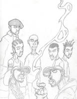 Wu-Tang Clan sketch by Glax101