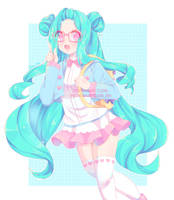 Pastel girl- Love Maths by Clerii