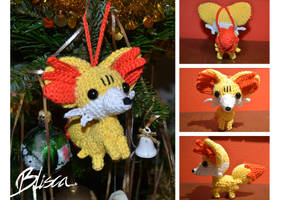 Crochet Fennekin by Blisca