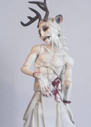 Deer Ghost Albino1 by RedRiverRoad