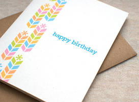 Birthday Card - Chevron Stacks by happydappybits