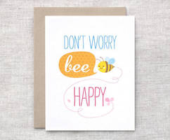 Bee Happy Card by happydappybits