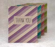 Thank You Striped Cards by happydappybits