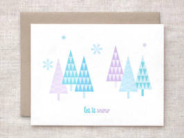 Let it Snow Card by happydappybits