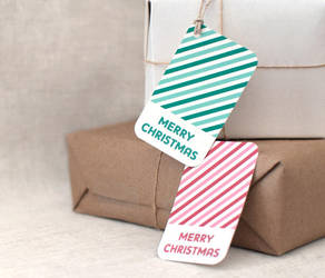Candy Cane Christmas Gift Tags by happydappybits
