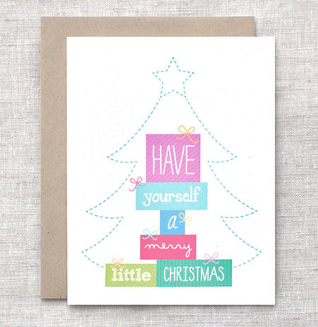 Merry Little Christmas Card by happydappybits