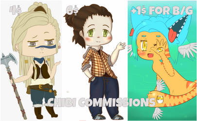 Chibi Commissions (PAYPAL ONLY) by lazygout