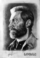 Logan / Hugh Jackman Drawing (by gokalpon) by Gokalp10