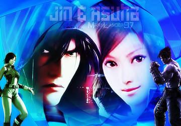 Jin and Asuka kazama by MaryLander97