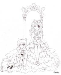 Princess and clown by Etuta