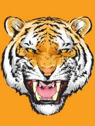 Like a TIGER by beanarts